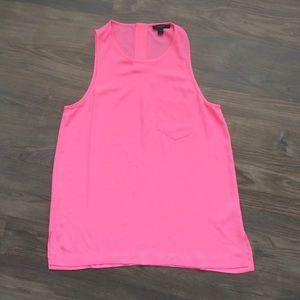 J. Crew Pink Pocket Tank Top Size 4